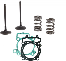 PROX Steel KTM 250 SXF 13 14 15 Exhaust Valves Springs Head & Base Gasket Kit